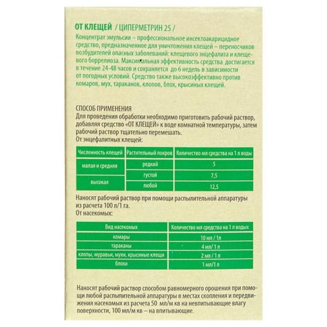 Циперметрин инструкция