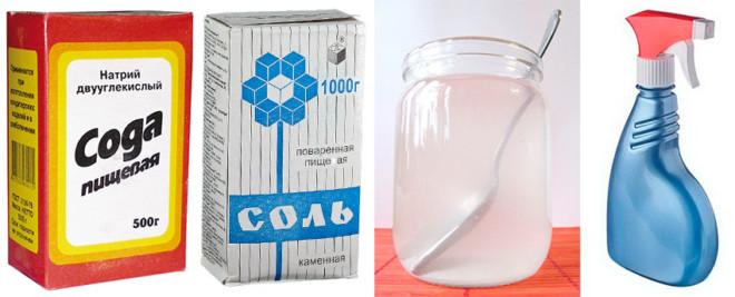 Соль сода и вода