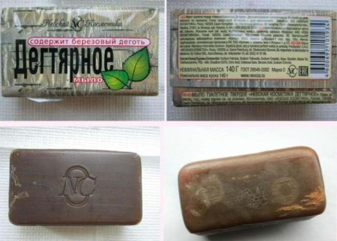 Мыло дектярное в упаковке